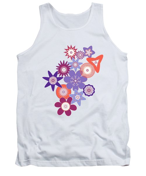 Purple Flower Fantasy Tank Top by Methune Hively