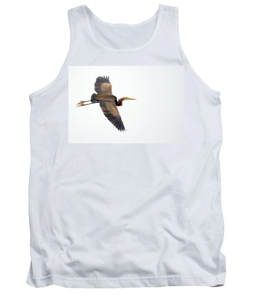 Purple Heron In Flight Tank Top