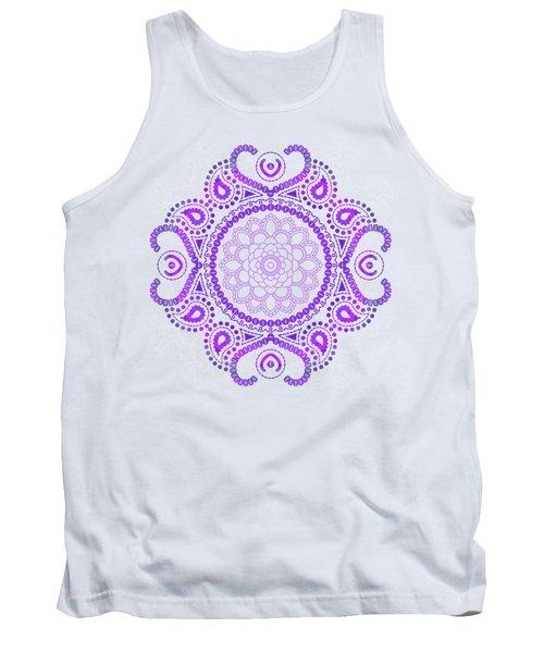 Tank Top featuring the digital art Purple Lotus Mandala by Tammy Wetzel