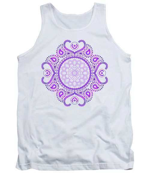 Purple Lotus Mandala Tank Top