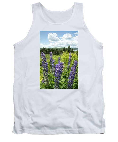 Purple Lupines Tank Top by Paul Miller
