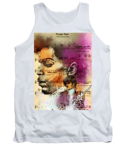 Purple Rain Forever Tank Top by Howard Barry