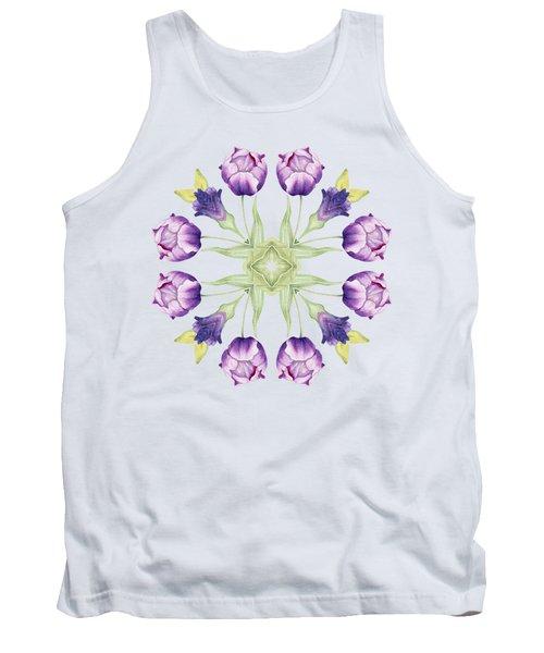 Purple Tulip Mandala Tank Top