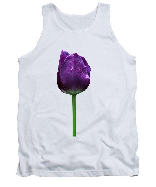 Purple Tulip T Tank Top