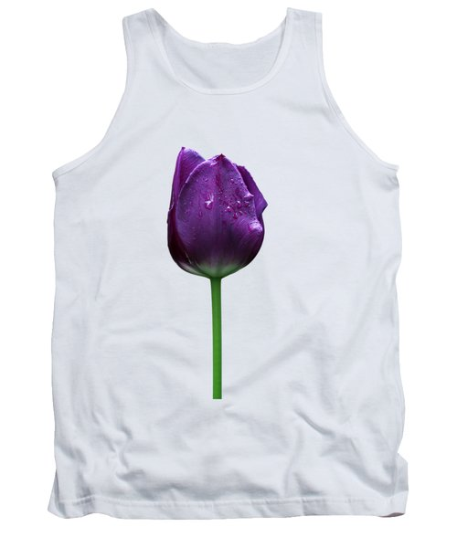 Purple Tulip T Tank Top