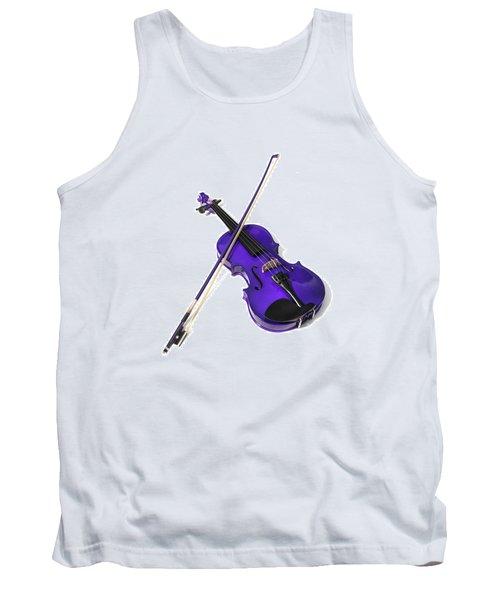 Purple Violin Tank Top