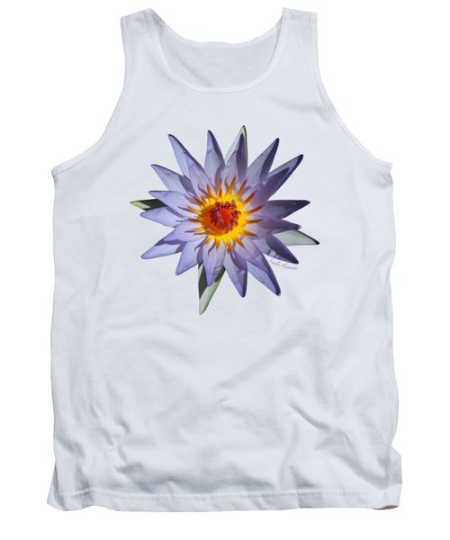 Purple Water Lily Transparent Tank Top