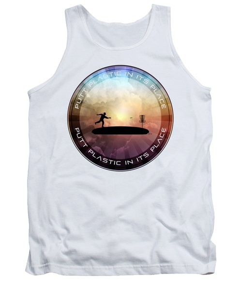 Putt Plastic In Its Place Tank Top by Phil Perkins