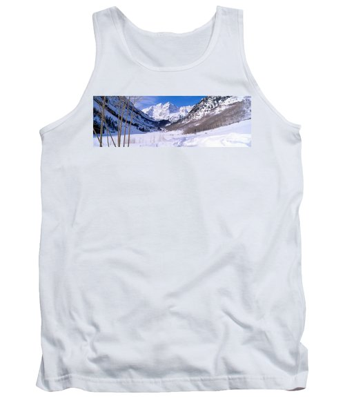 Pyramid Peak And Maroon Bells Tank Top