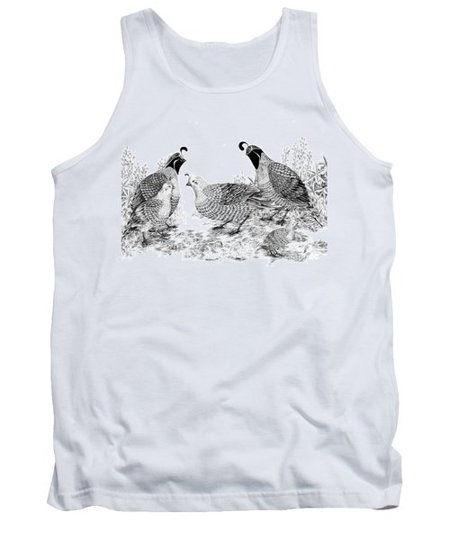 Quail Family Reunion Tank Top