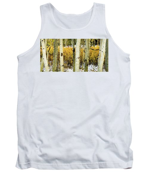 Quakies And Willows In Autumn Tank Top