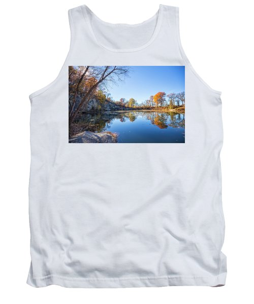Tank Top featuring the photograph Quarry Fall by Alan Raasch