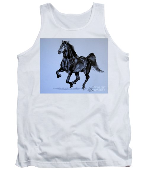 The Black Quarter Horse In Bic Pen Tank Top by Cheryl Poland