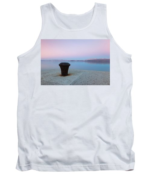 Tank Top featuring the photograph Quay In Dawn by Davor Zerjav