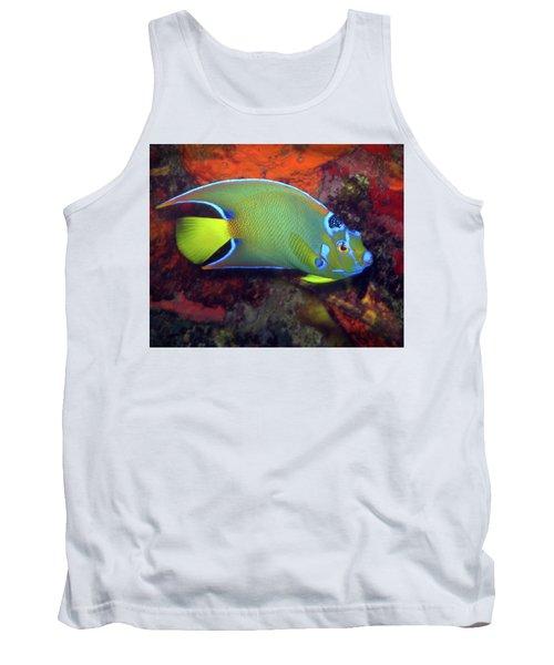 Queen Angelfish, U. S. Virgin Islands 2 Tank Top