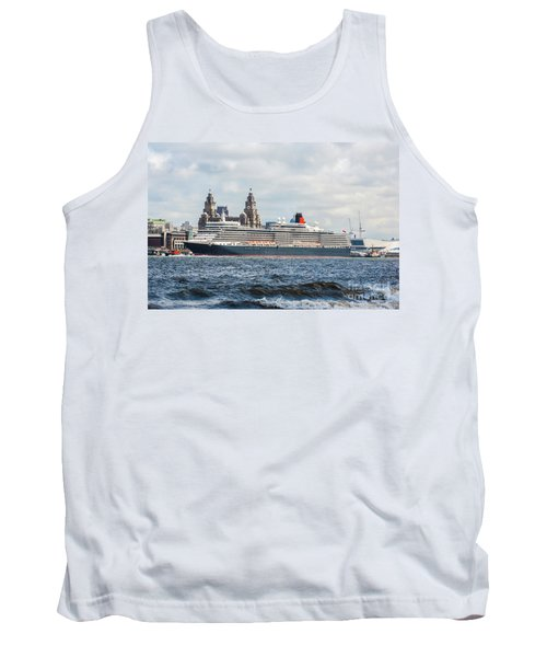 Queen Elizabeth Cruise Ship At Liverpool Tank Top