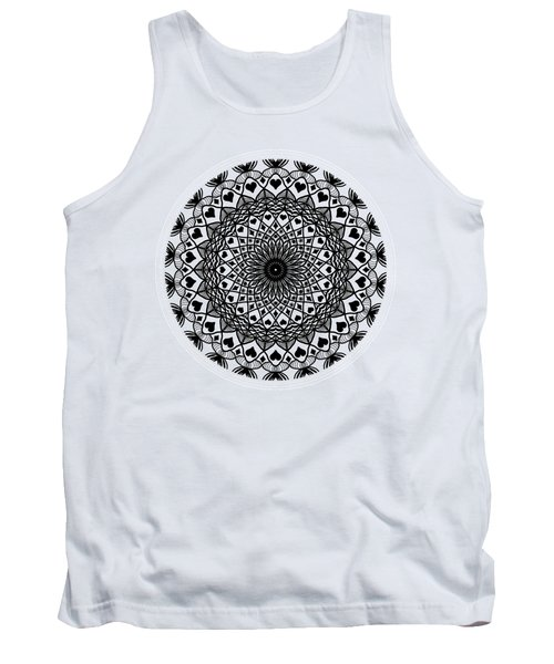 Queen Of Hearts King Of Diamonds Mandala Tank Top