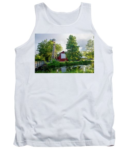 Quilt Barn And Windmill At Bonneyville Mill Tank Top