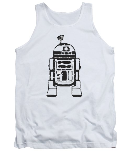 Tank Top featuring the drawing R2d2 Star Wars Robot by Edward Fielding