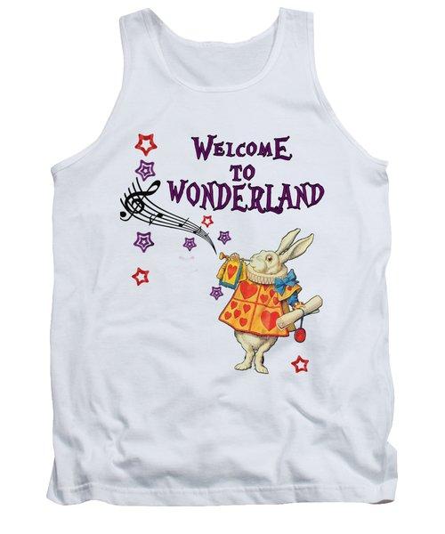 Rabbit Welcome To .. Alice In Wonderland Tank Top