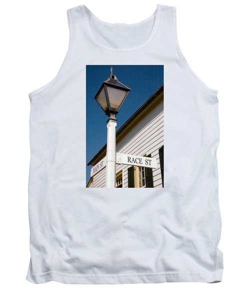 Tank Top featuring the photograph Race St Old Salem by Bob Pardue