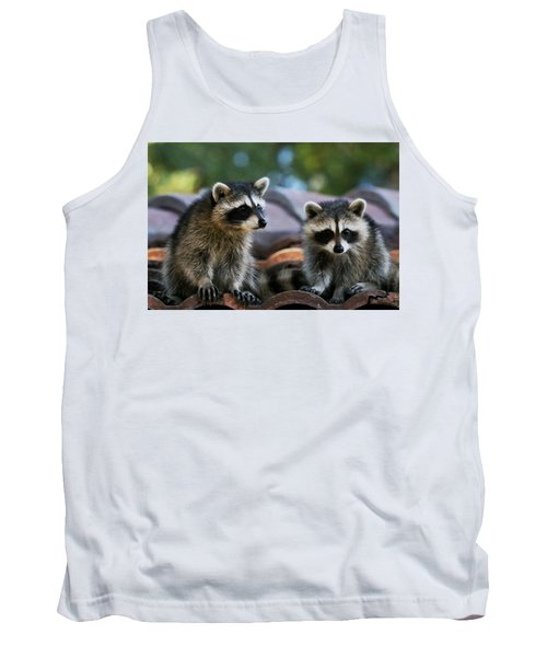 Racoons On The Roof Tank Top
