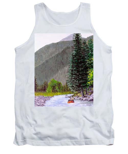 Tank Top featuring the painting Rafting The Gallatin by Kevin Daly