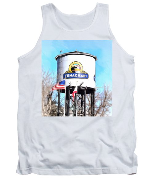 Tank Top featuring the photograph Railroad Park Tehachapi California Detail by Floyd Snyder