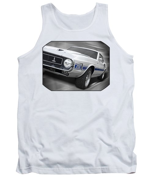 Rain Won't Spoil My Fun - 1969 Shelby Gt500 Mustang Tank Top by Gill Billington