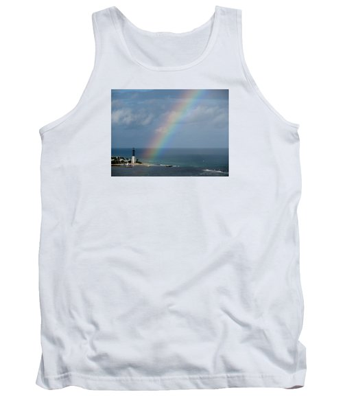 Rainbow At Lighthouse Tank Top