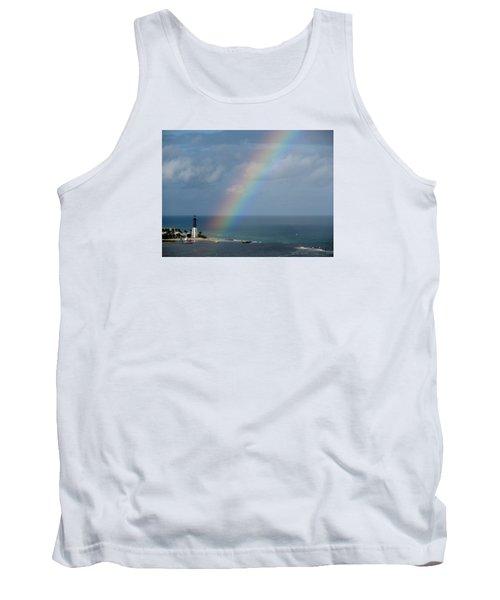 Rainbow At Lighthouse Tank Top
