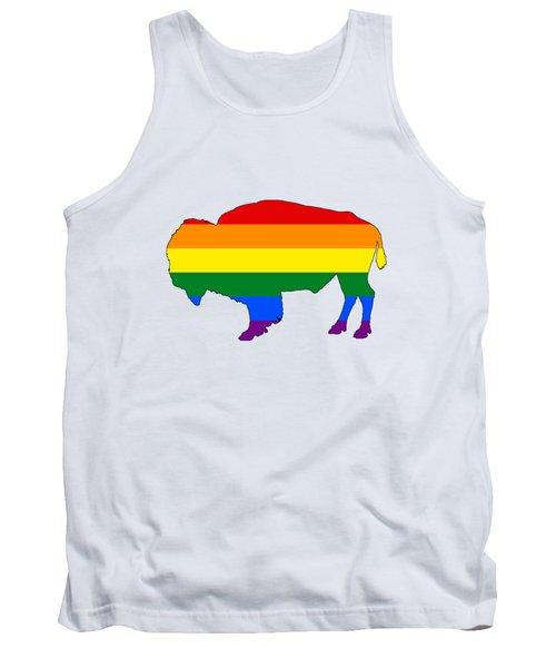 Rainbow Bison Tank Top by Mordax Furittus