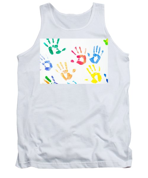 Tank Top featuring the photograph Rainbow Color Arms Prints 1 by Jenny Rainbow