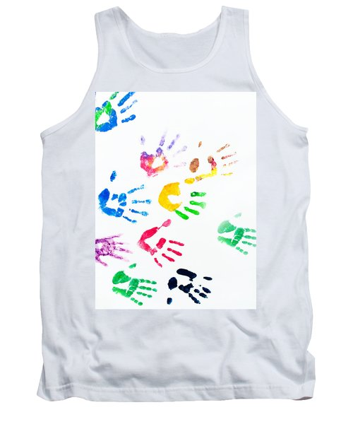 Tank Top featuring the photograph Rainbow Color Arms Prints by Jenny Rainbow