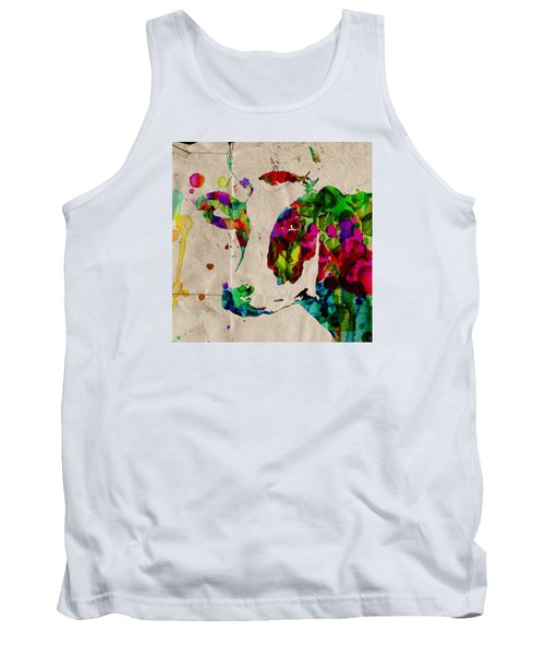 Rainbow Cow Print Poster Tank Top