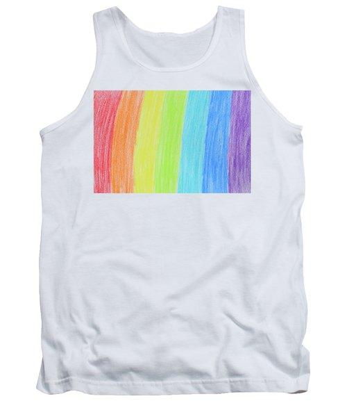 Rainbow Crayon Drawing Tank Top by GoodMood Art