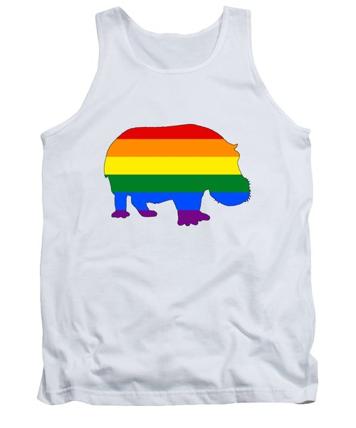 Rainbow Hippo Tank Top by Mordax Furittus