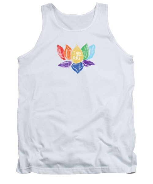 Rainbow Lotus I Am Art- Art By Linda Woods Tank Top