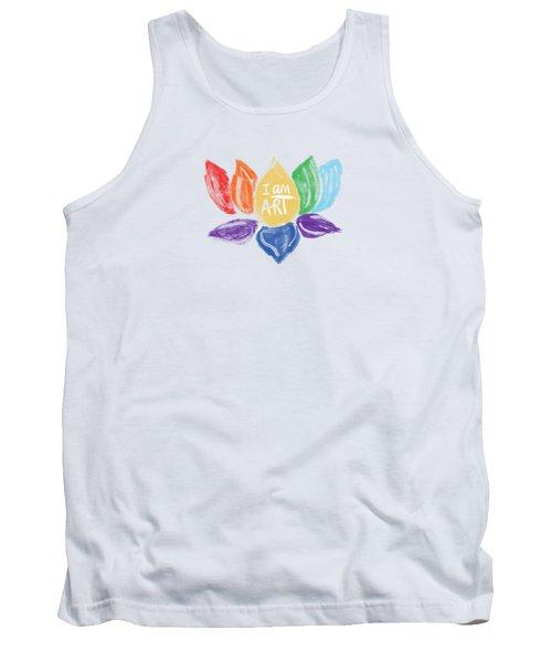 Rainbow Lotus I Am Art- Art By Linda Woods Tank Top