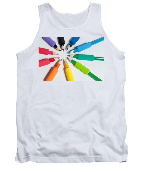 Rainbow Of Crayons Tank Top
