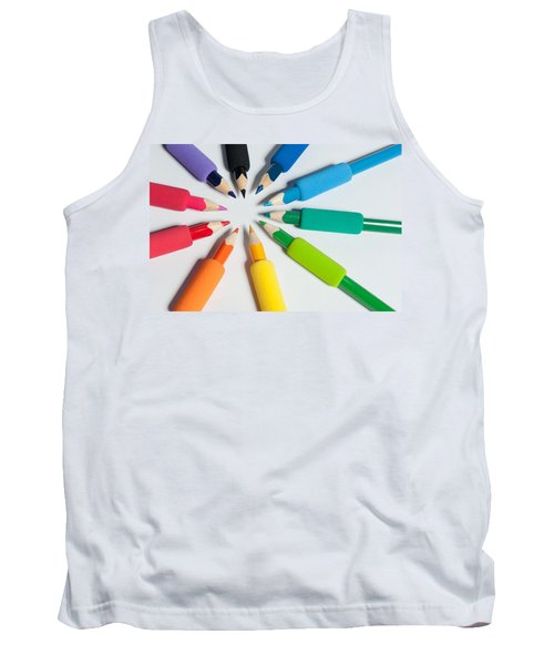 Rainbow Of Crayons Tank Top