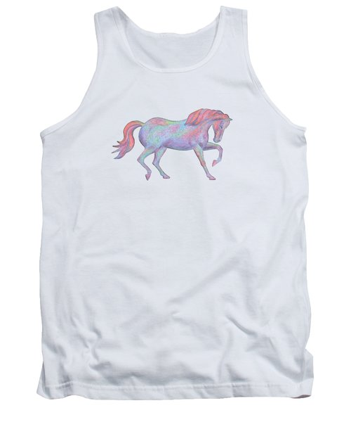 Rainbow Pony II Tank Top by Elizabeth Lock