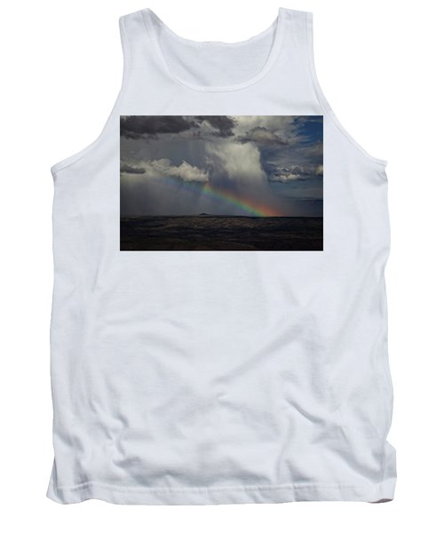Tank Top featuring the photograph Rainbow Storm Over The Verde Valley Arizona by Ron Chilston