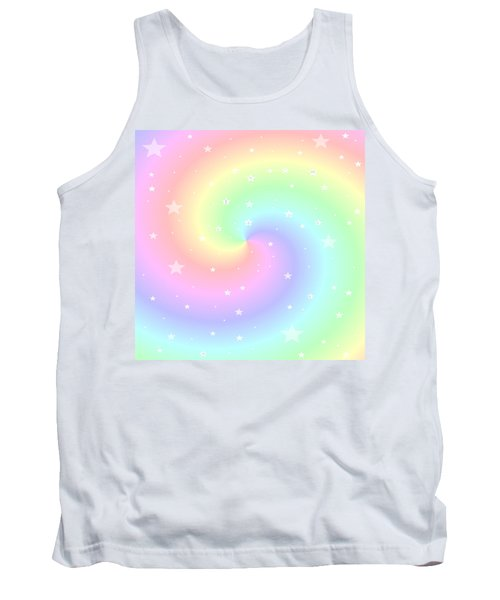 Rainbow Swirl With Stars Tank Top