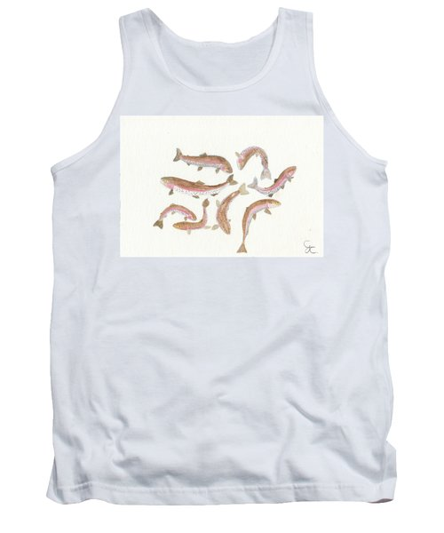 Rainbow Trout Tank Top by Gareth Coombs