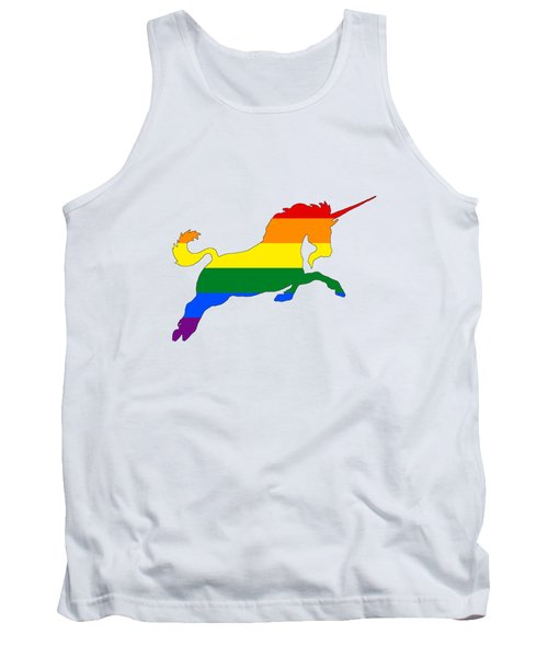 Rainbow Unicorn Tank Top by Mordax Furittus