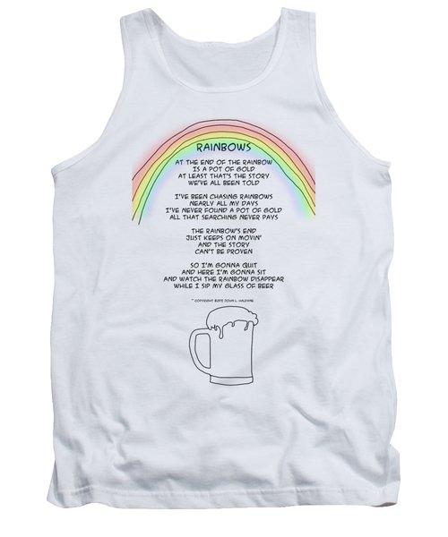 Tank Top featuring the drawing Rainbows by John Haldane