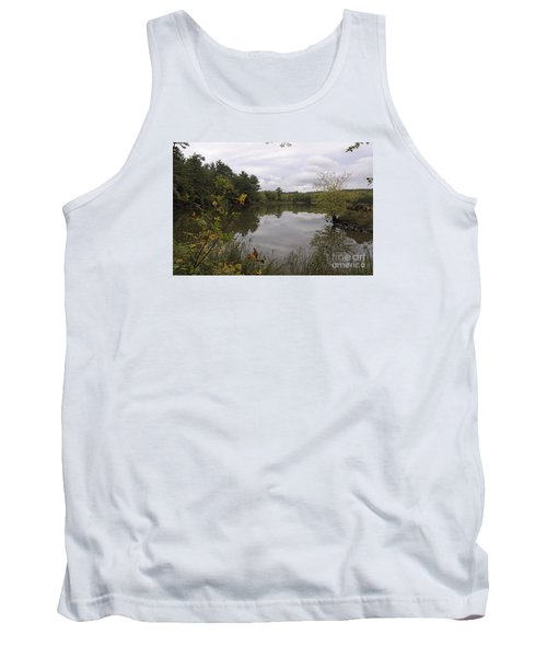 Tank Top featuring the photograph Rainy Day Reflections by Sandra Updyke