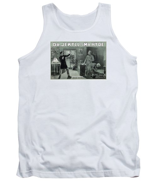 Rare Dr. Jekyll And Mr. Hyde Transformation Poster Tank Top