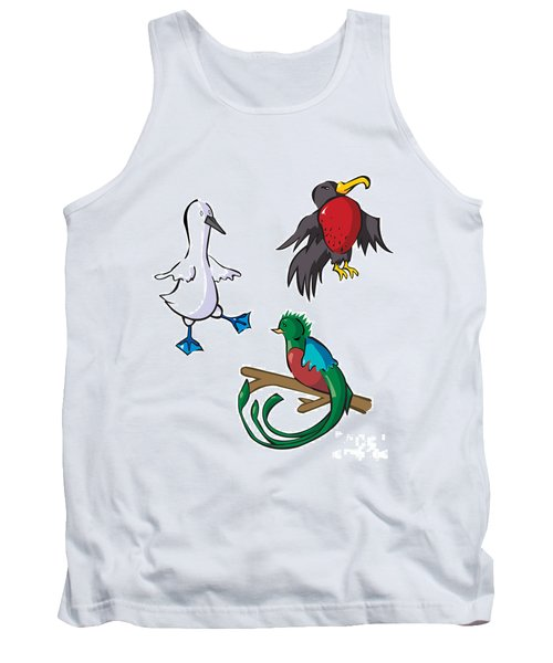 Rare Old Birds Tank Top by Whitney Morton